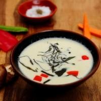 Hindistan cevizi sütü, Fesleğen, Kabak, Kapya biberi, Balık / Coconut milk, Basil, Zucchini, Peppers Capia, Fish , Curry paste