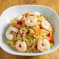 Karides, havuç, kabak, yumurta, soya sos / Shrimp, Carrot, Zucchini, Egg, Soy Sauce, Rice