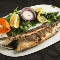 Roka , Soğan , Limon / Grilled Sea Bass , Rocket, Onions, and Lemon