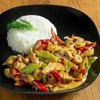 Pilav ile / Creamy Mushroom Chicken , Rice