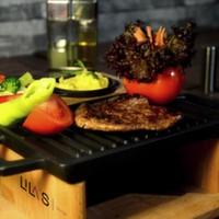 126 gr. ızgara dana bonfile, haşlanmış sebzeler, iceberg