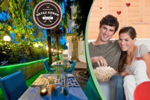 Kadıköy Beyaz Konak'ta 2 Kişilik Yemekli Sinema Paketi