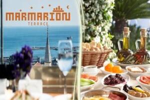 Marmarion Teras'ta Zengin Serpme Kahvaltı Menüsü