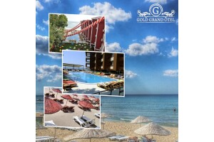Kumburgaz Grand Gold Hotel'de 2 Kişilik Konaklama & Plaj ve Havuz